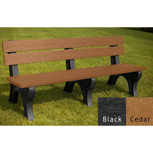 6' Economizer Traditional Backed Bench