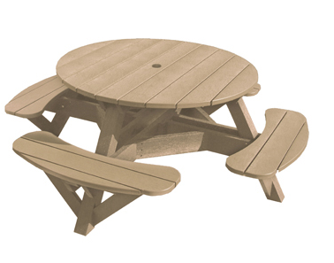 "51"" Round Picnic Table - Color Frame"
