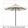 7.5 umbrella dimensions